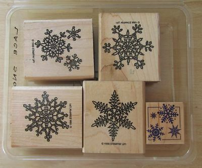 """Stampin Up   Stempel Set 5 Stck.""""Lace Snowflakes"""""""