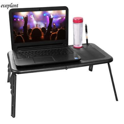 Foldable Laptop Tray Desk W/Cooling Fan Adjustable PC Tablet Desk Bed Sofa Couch