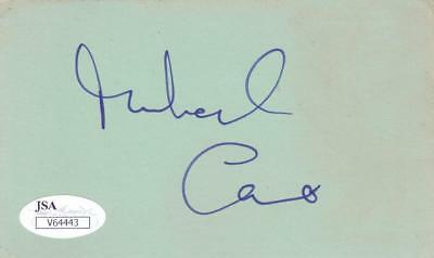 MICHAEL CAINE Signed 3X5 Index Card Actor/Educating Rita JSA V64443