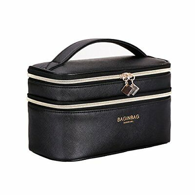 IN Multifunction Dual Compartment Portable Waterproof Cosmetic Bag Travel Makeup