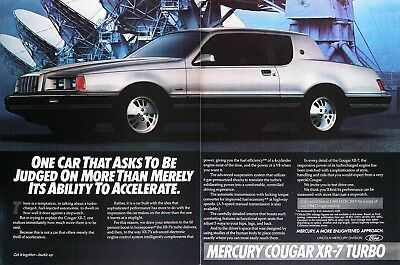 1984 MERCURY COUGAR XR-7 TURBO Genuine Vintage Ad