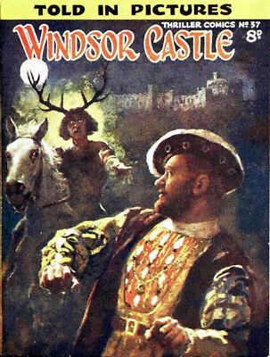 THRILLER PICTURE LIBRARY No.37 - WINDSOR CASTLE  Facsimile