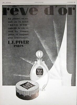 1928 REVE D'OR BEAUTY CREAM Genuine Vintage French Advertisement ~ RARE AD!