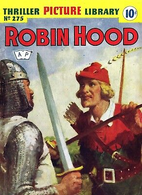 THRILLER PICTURE LIBRARY No.275 - ROBIN HOOD  Facsimile