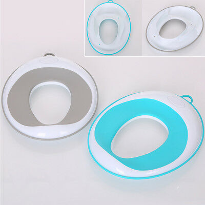 Baby Secure Trainer Ring Soft Non-Slip Toilet Seat Kids Portable Hook PP