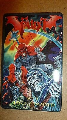 """Faust : """"  Love Of The Damned """" Phone Card From 1995 By Tim Vigil"""