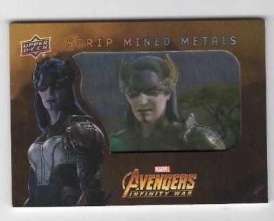 2018 Upper Deck Avengers Infinity War Strip Mined Metals SMM12 Proxima Midnight