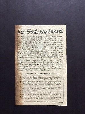 Ww2 Leaflet German Battle Of The Bulge
