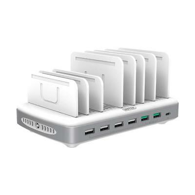 Unitek 96W/2.4A 10-Port USB Charging Station Charger Dock with Quick Charge 3.0