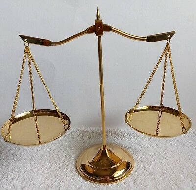 Brass Balance Scales Of Justice Law Vintage  Decoration Scale Weighing Weigh