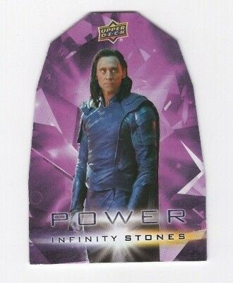 2018 Upper Deck Marvel Avengers Infinity War Stones Die-Cut Power PP1 Loki
