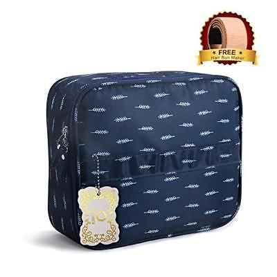 Travel Makeup Bag Train Case Cosmetic Bags Adjustable Compartments, Waterproof