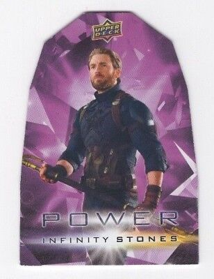 2018 Upper Deck Marvel Avengers Infinity War Stones Power PP2 Captain America