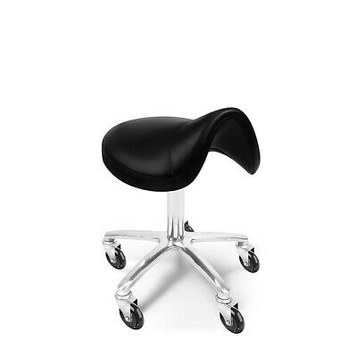 Glammar Ellie Saddle Stool Black