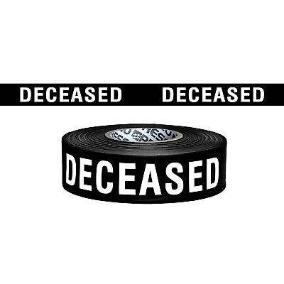 Presco Printed Roll Flagging Tape: 1-1/2 in. x 300 ft. (Black/White DECEASED)
