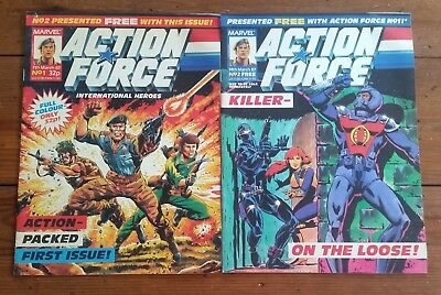 Action Force 1 & 2, Marvel Uk, 7Th March 1987, High Grade