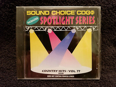 Sound Choice Karaoke CD+G Spotlight Series Country Hits - Vol. 77 - 8328 New!