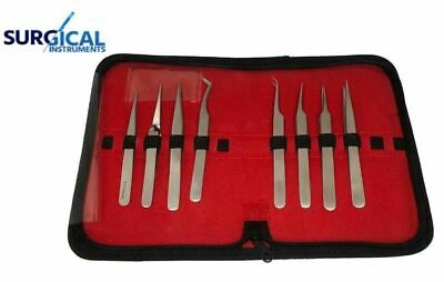 Eyelash Tools: Eyelash Extensions Jeweler Style Tweezers Kit 8 Pieces