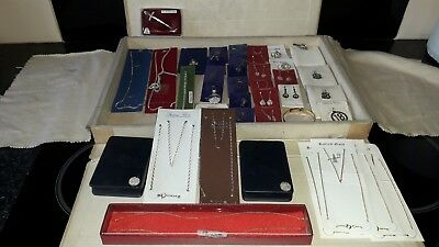 Large Job Lot Of Vintage Sterling Silver Items ,9Kt Gold Items Etc