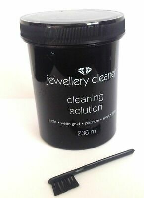 Jewellery Cleaner Liquid Cleaning Solution with Brush