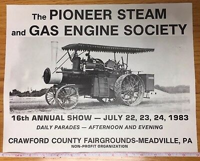 1983 Broadside For The Pioneer Steam And Gas Engine Society 16th Annual Show