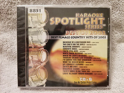 Sound Choice Karaoke CDG Spotlight Series-Best Female Country Hits of 2003-8851