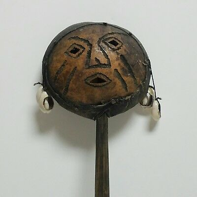 Vintage Hand Crafted Wooden African Shaker Tribal Musical Instrument