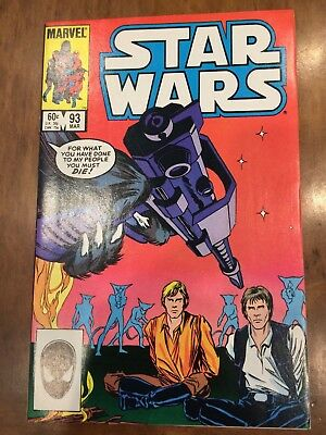 Marvel Comics Star Wars Issue 93 (1985) Excellent Copy