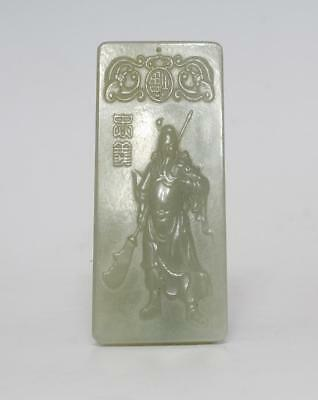 Perfect Chinese Carved Natural He Tian Jade Pendant Statue (063)