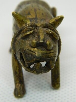 Kleiner Löwe Gelbguss Bronze Messing Brass Lion Goldweight Afrika Ashanti Ghana