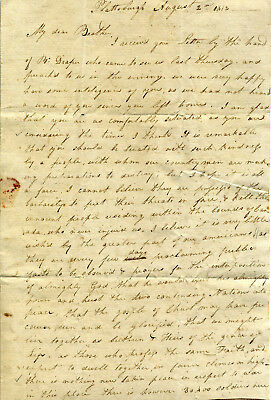 1812 Plattsburgh Ny Letter To Missionary With War Of 1812 Content Postal History