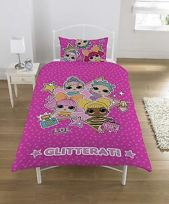LOL Surprise! Dolls Bedding Glitterati Single Glitter Duvet Set with Pillowcase
