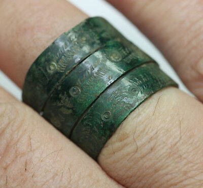 Viking Twisted bronze finger ring GREAT CONDITION  museum condition.