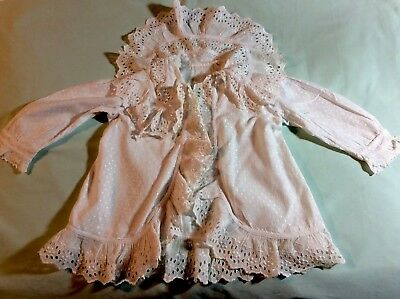 """Beautiful Antique Broderie Anglaise Baby's Matinee Jacket.chest 24"""" Length 15""""."""