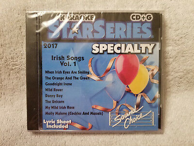 Sound Choice Karaoke StarSeries CD+G Specialty Irish Songs Vol. 1 - 2017 New!