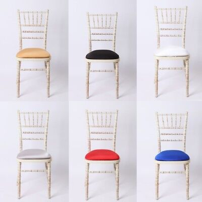 REMOVABLE LYCRA SEAT PAD COVER ELASTIC EDGE For Chivari WEDDING CHAIRS Slipcover