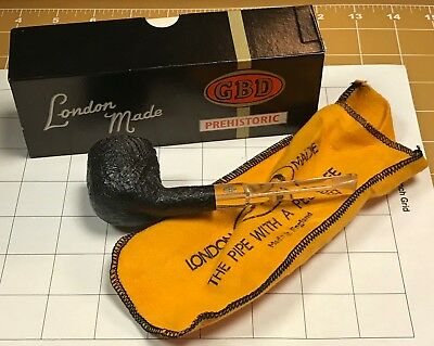 """Vintage Unsmoked GBD """"Prehistoric"""" from the 1970's with Original Box & Bag!"""