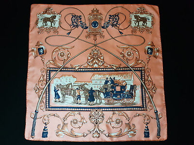 Vintage  Unbranded ROYAL MAIL Coach Post 100% Silk Scarf