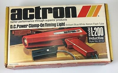 Actron DC Clamp On Timing Light L-200 Inductive - Untested