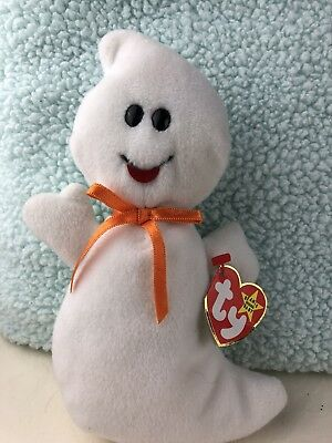 1995 Ty Original Beanie Babies SPOOKY The Ghost Style 4090 w/Tags (8 inch)