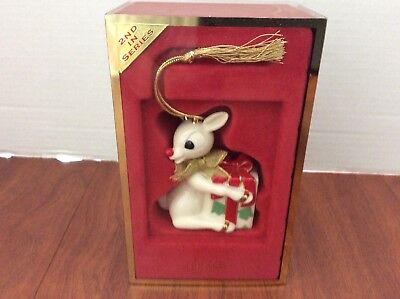 Lenox Rudolph Ornament 2nd in Series with Original Box
