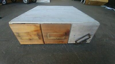 Vintage Library Index Card Catalog 3 Drawer  Dovetail File Box Nega File