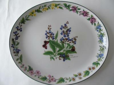 Royal Worcester Green Trim Worcester Herbs Sage Large Oval Serving Platter 12.5""