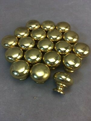 "1"" Round Brass Drawer or Cabinet Knobs Pulls LOT of 19"