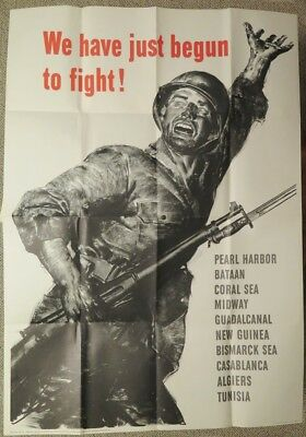 Large Original WWII Patriotic Poster - 1943