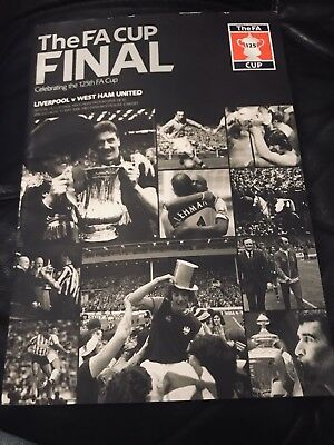 FA CUP LIVERPOOL FC,v WEST HAM UNITED,FINAL 13 May 2006 FOOTBALL  PROGRAM BOOK