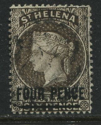 St. Helena QV 1890 4d on 6d used