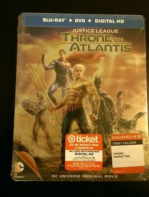 Justice League: Throne of Atlantis Steelbook Blu-ray - SEALED & FREE SHIPPING!