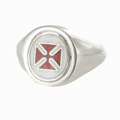 Reversible Solid Silver Knights Templar Masonic Ring