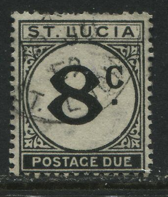 St. Lucia 1949 8 cent Postage Due used